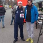 """Giovanni Rossi e Luca Panichi il 20 dicembre 2015 : immagini di sport e solidarietà  """"1° Christmas Run""""."""