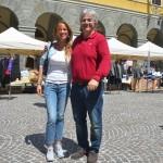Mercatino dei Ragazzi a Montevarchi 21 maggio 2017 Il Sindaco Silvia Chiassai ed il Presidente Calcit Valdarno Piero Secciani