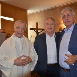 Presentazione del Crocifisso con S.M. Vescovo Mario Meini, l'artista Renzo Brandi, il Presidente Piero Secciani - Chiesa Ospedale del Valdarno 06.11.2017
